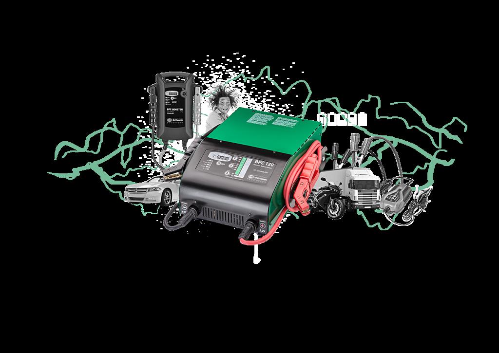 A teljes töltés szakértő akkumulátortöltéssel